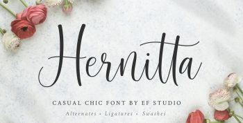 Hernitta Free Font - script
