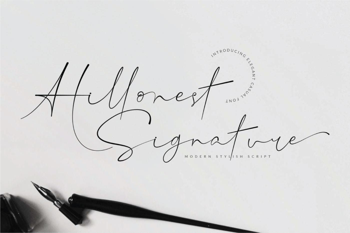 Hillonest Free Font - script