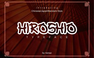 Hiroshio Free Font - decorative