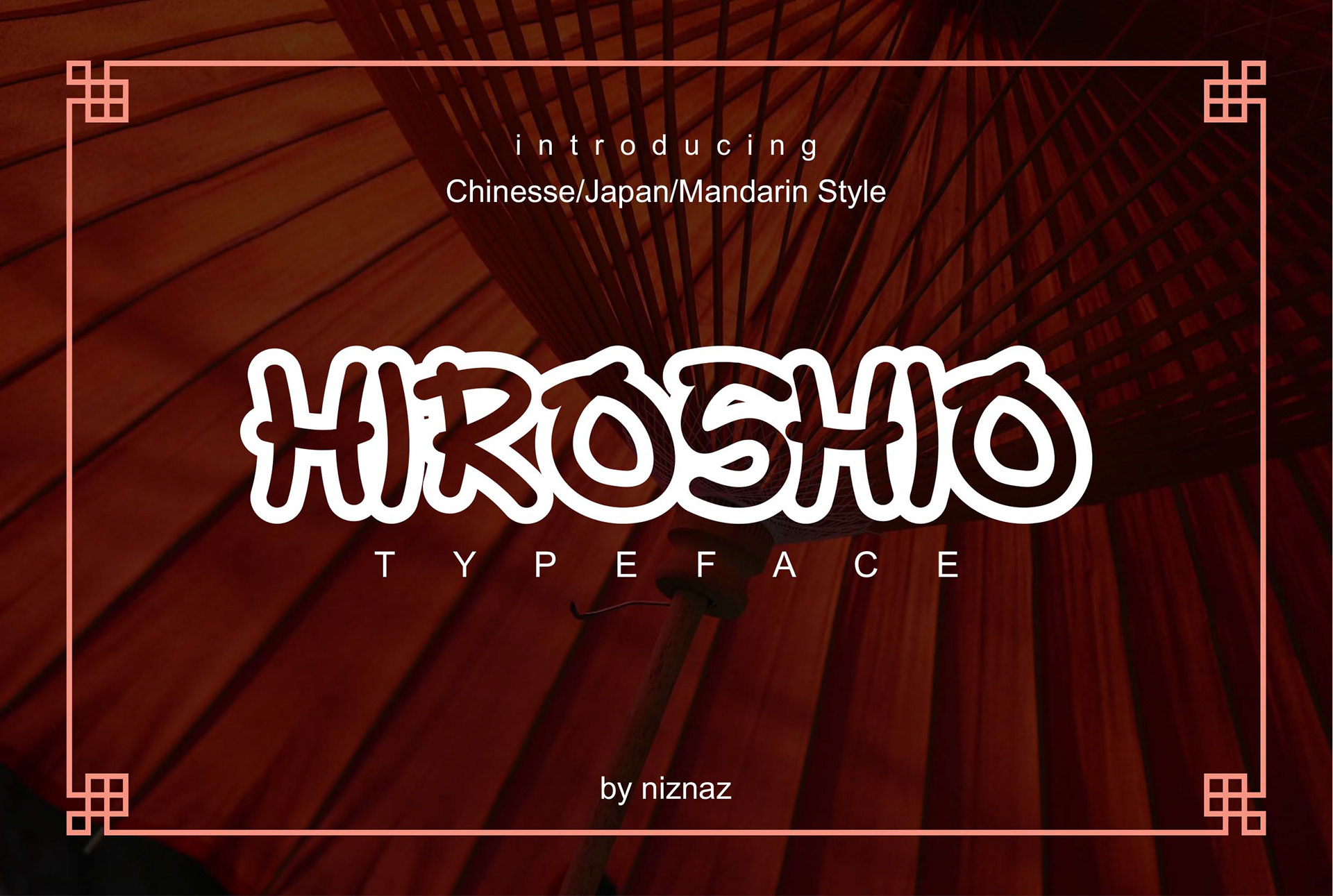 Hiroshio Free Font - decorative-display