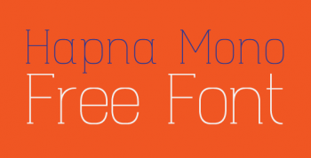 Hapna Mono Free Font