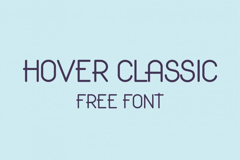 Hover Classic Free Font - sans-serif