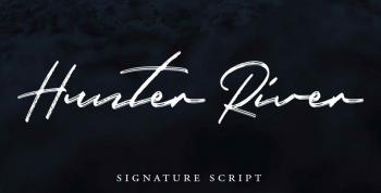 Hunter River Free Signature Font - script