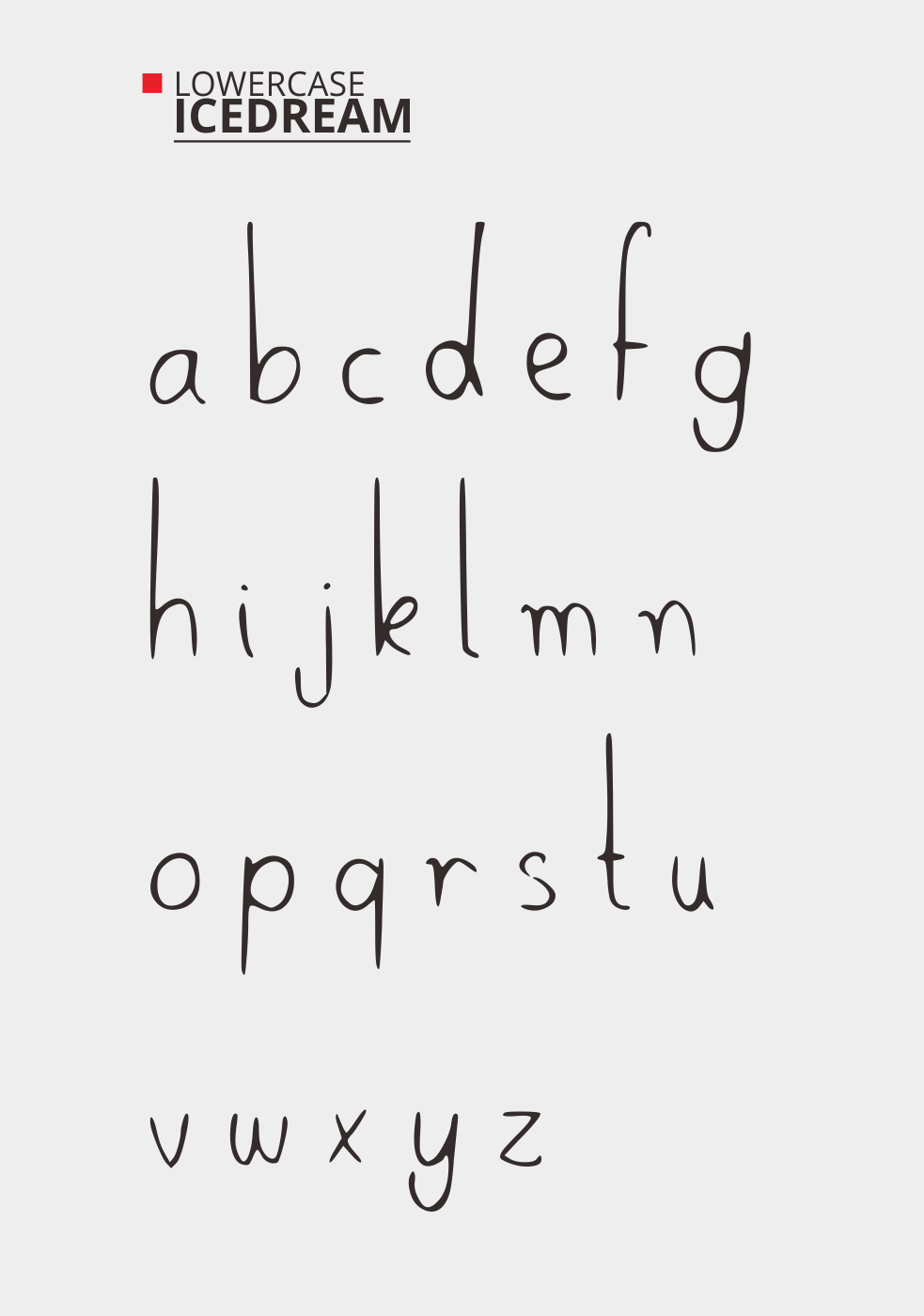 Icedream Free Font - decorative-display