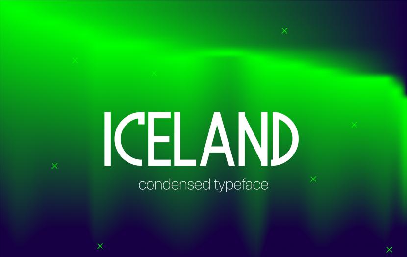 Iceland Free Font - sans-serif