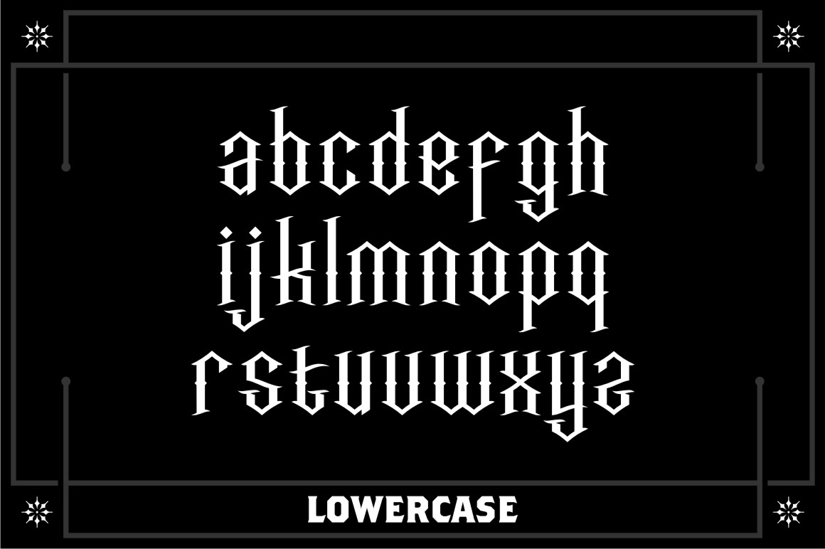 Incognito Free Font - blackletter