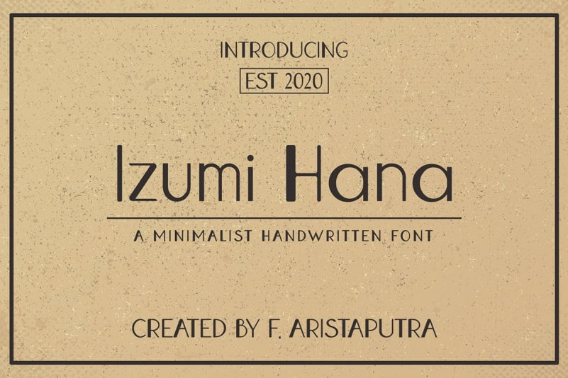 Izumi Hana Free Font - sans-serif