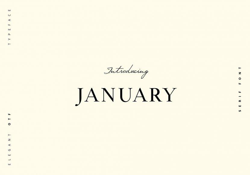 January Free Typeface - serif