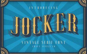 Jocker Free Font - serif