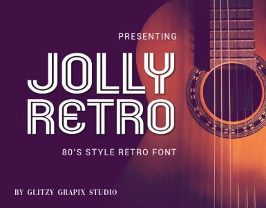 Jolly Retro Free Font - decorative-display