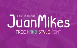 JuanMikes Free Font - serif, script