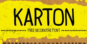 Karton Free Font - script, sans-serif, decorative