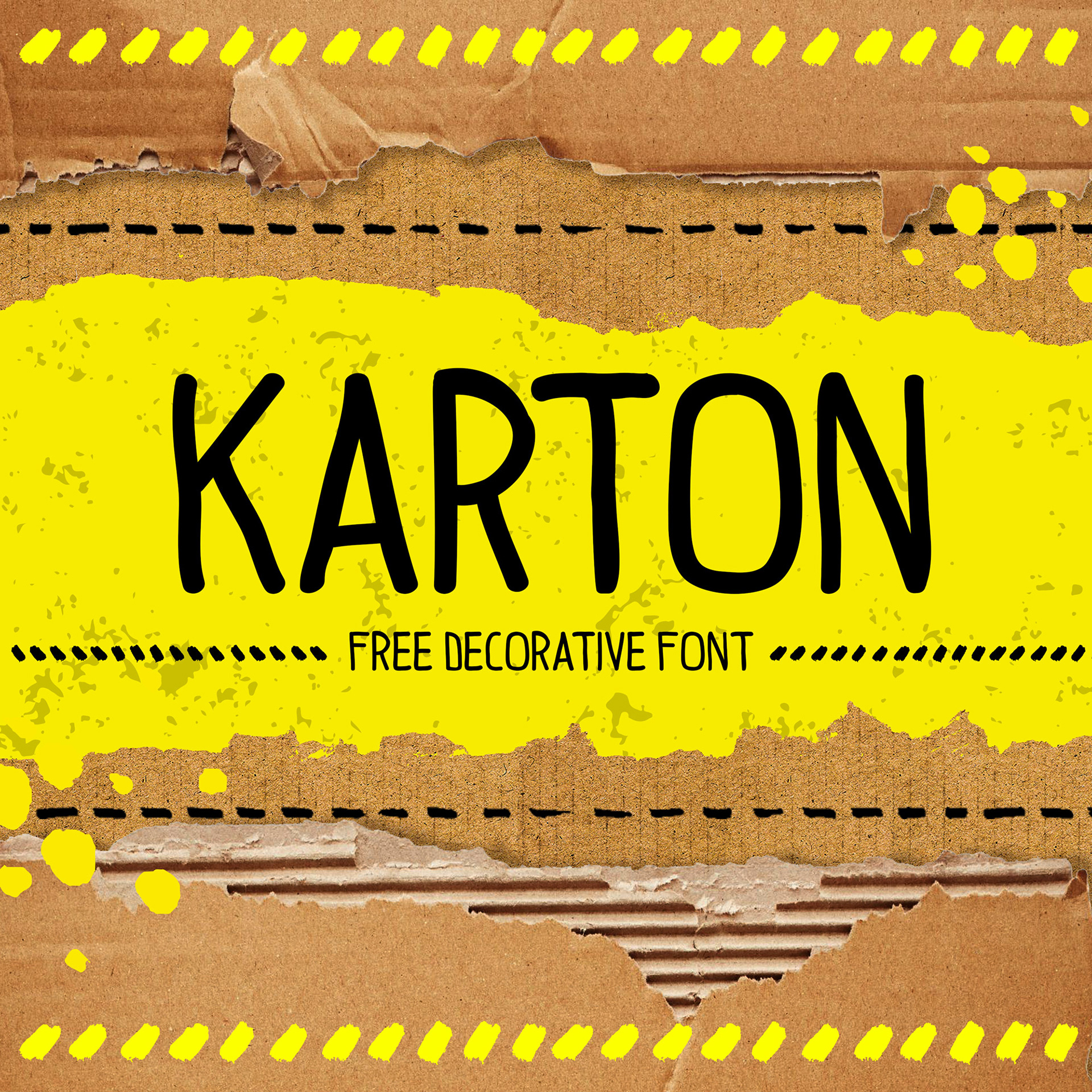 Karton Free Font - script, sans-serif, decorative-display