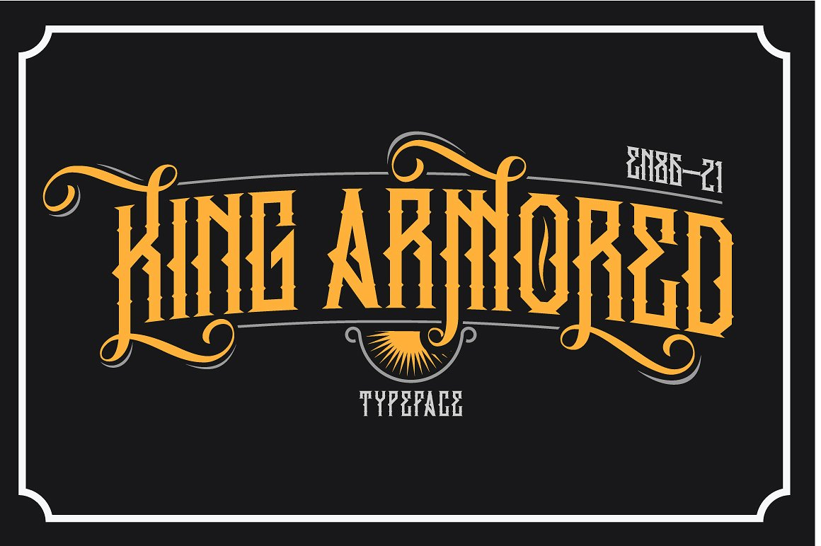 King Armored Free Font - blackletter