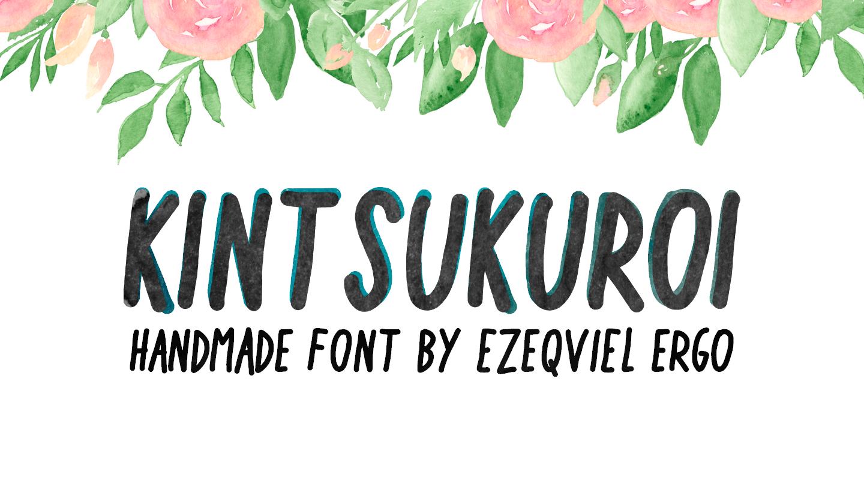 Kintsukuroi Free Font - script