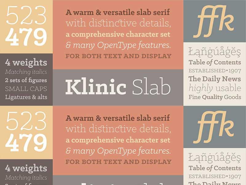 Klinic Slab Free Font - slab-serif