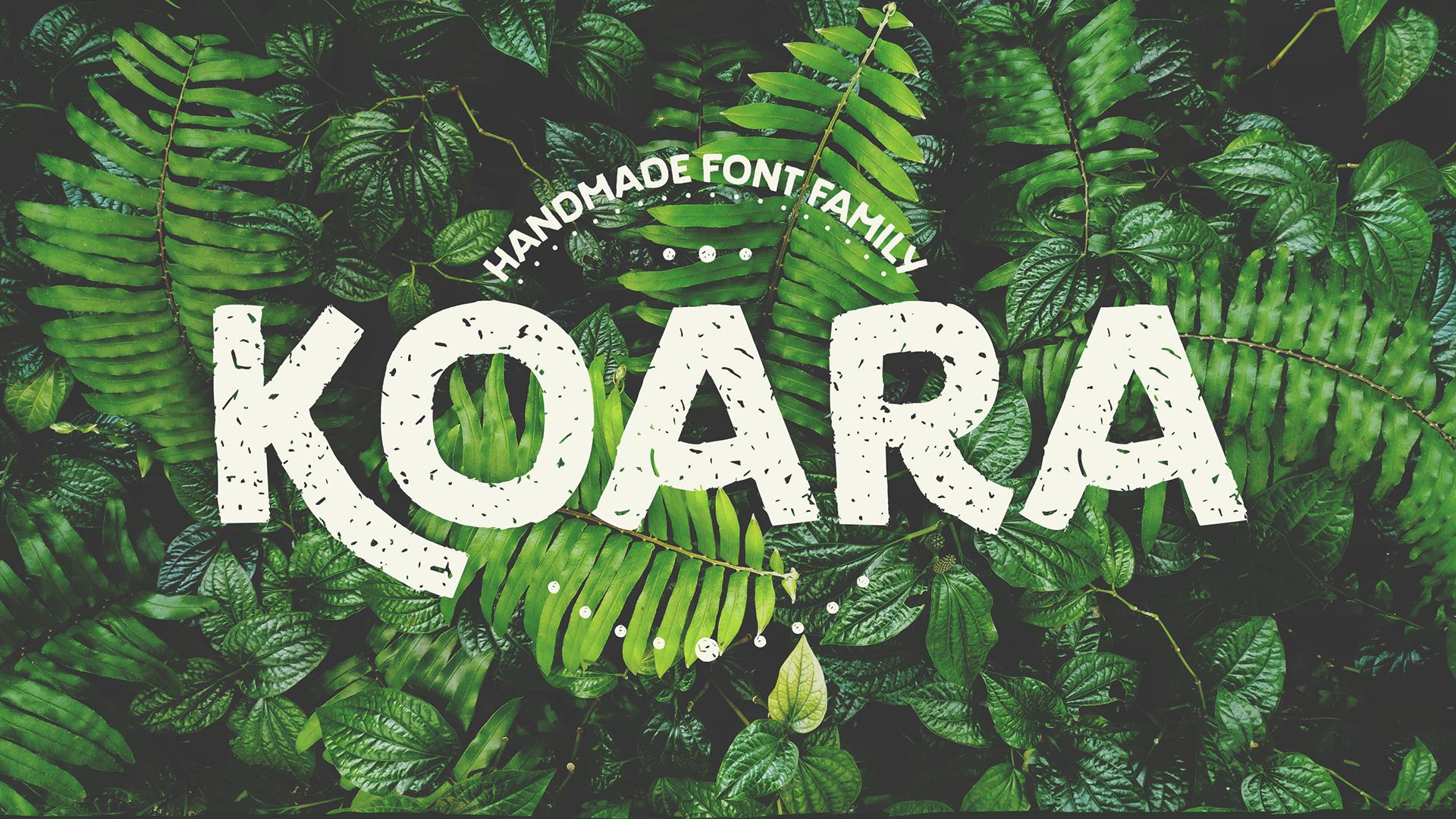Koara Font Family - script