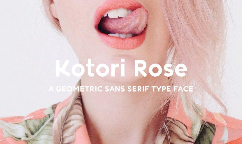 Kotori Rose Free Font - sans-serif
