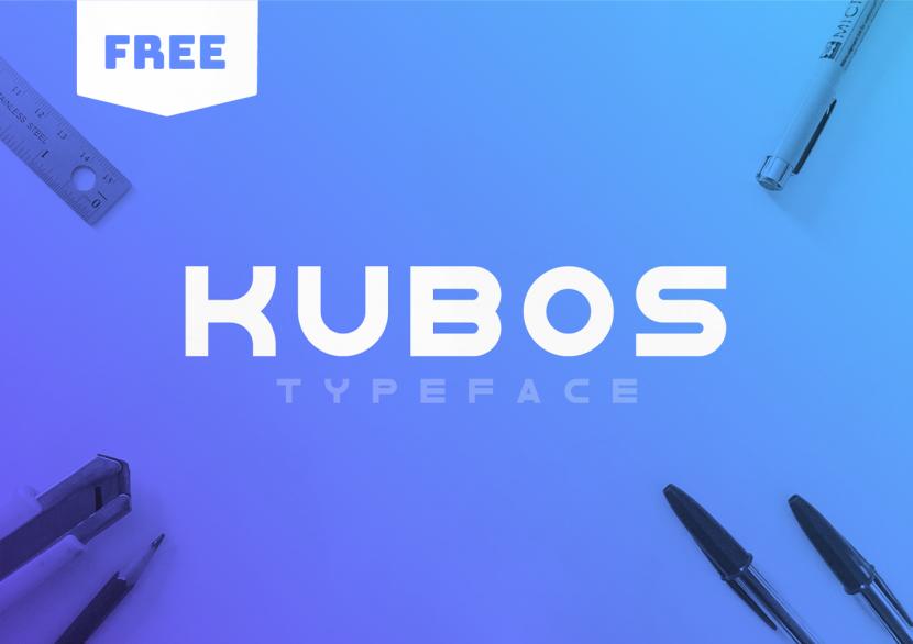 KUBOS Free Font - sans-serif