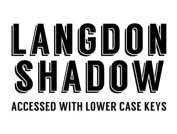 Langdon Free Font - sans-serif