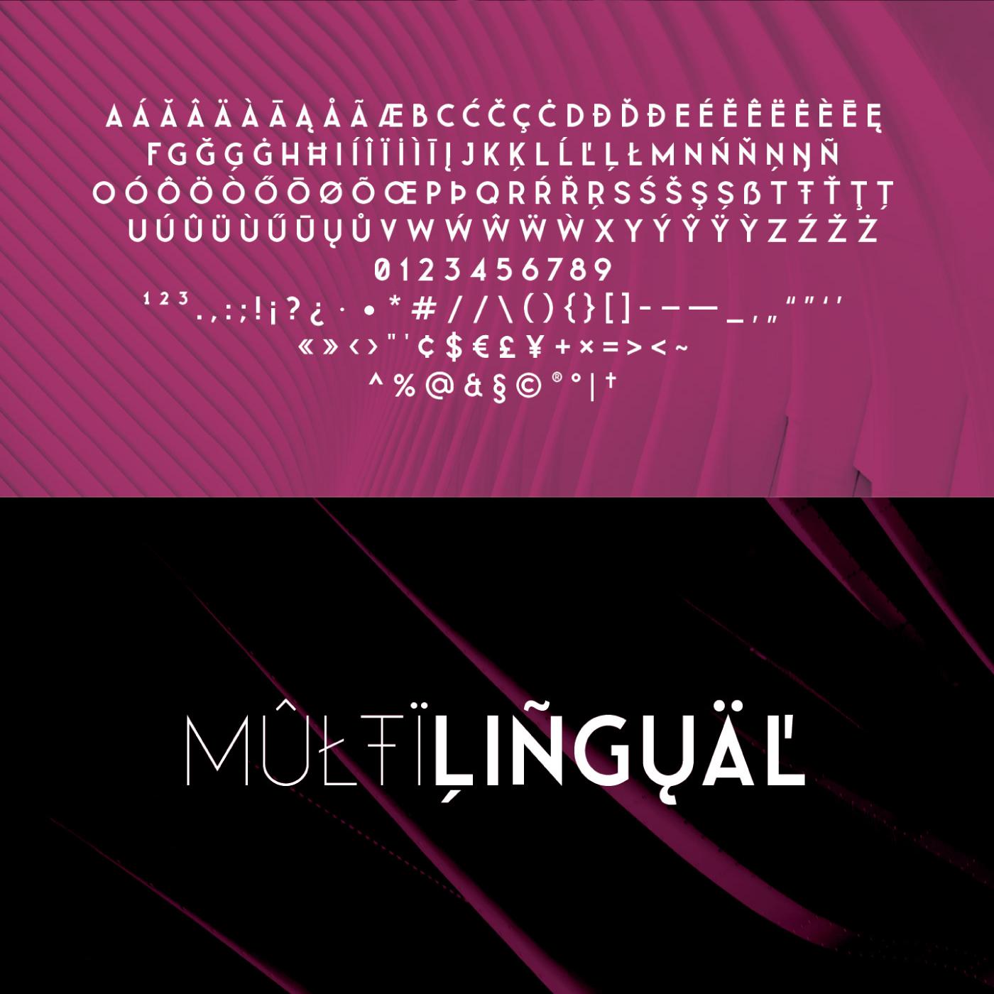 LEANER THIN Free Font - sans-serif