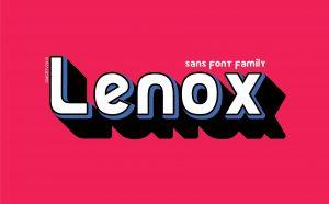Lenox Free Font - sans-serif