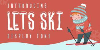 Lets Ski Free Font - decorative