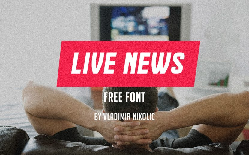 Live News Free Font - decorative