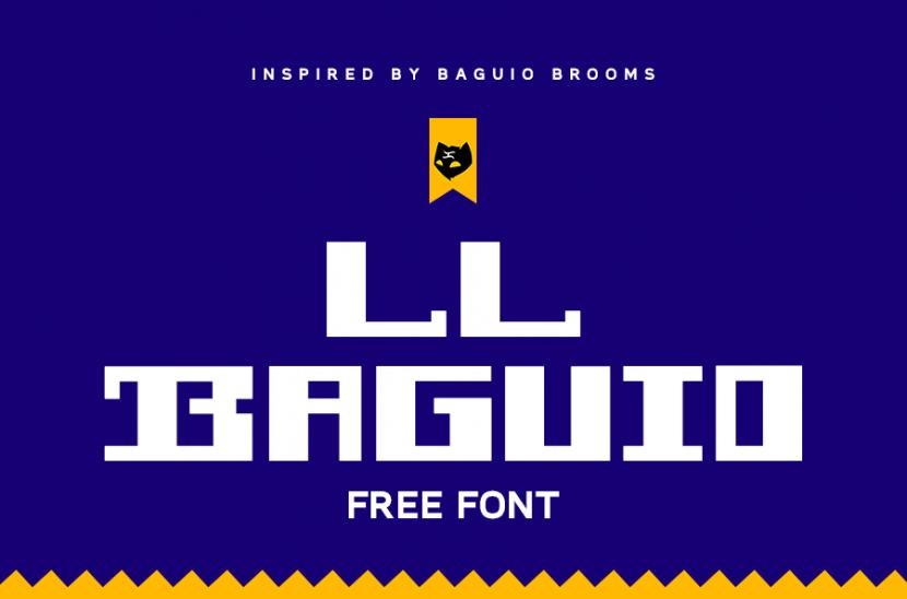 LL BAGUIO Free Font - decorative