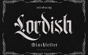 Lordish Free Font - blackletter