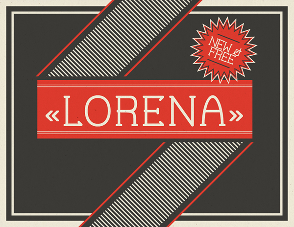 Lorena Free Font - serif, decorative-display