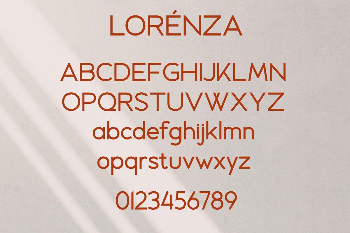 LORENZA Free Font - sans-serif