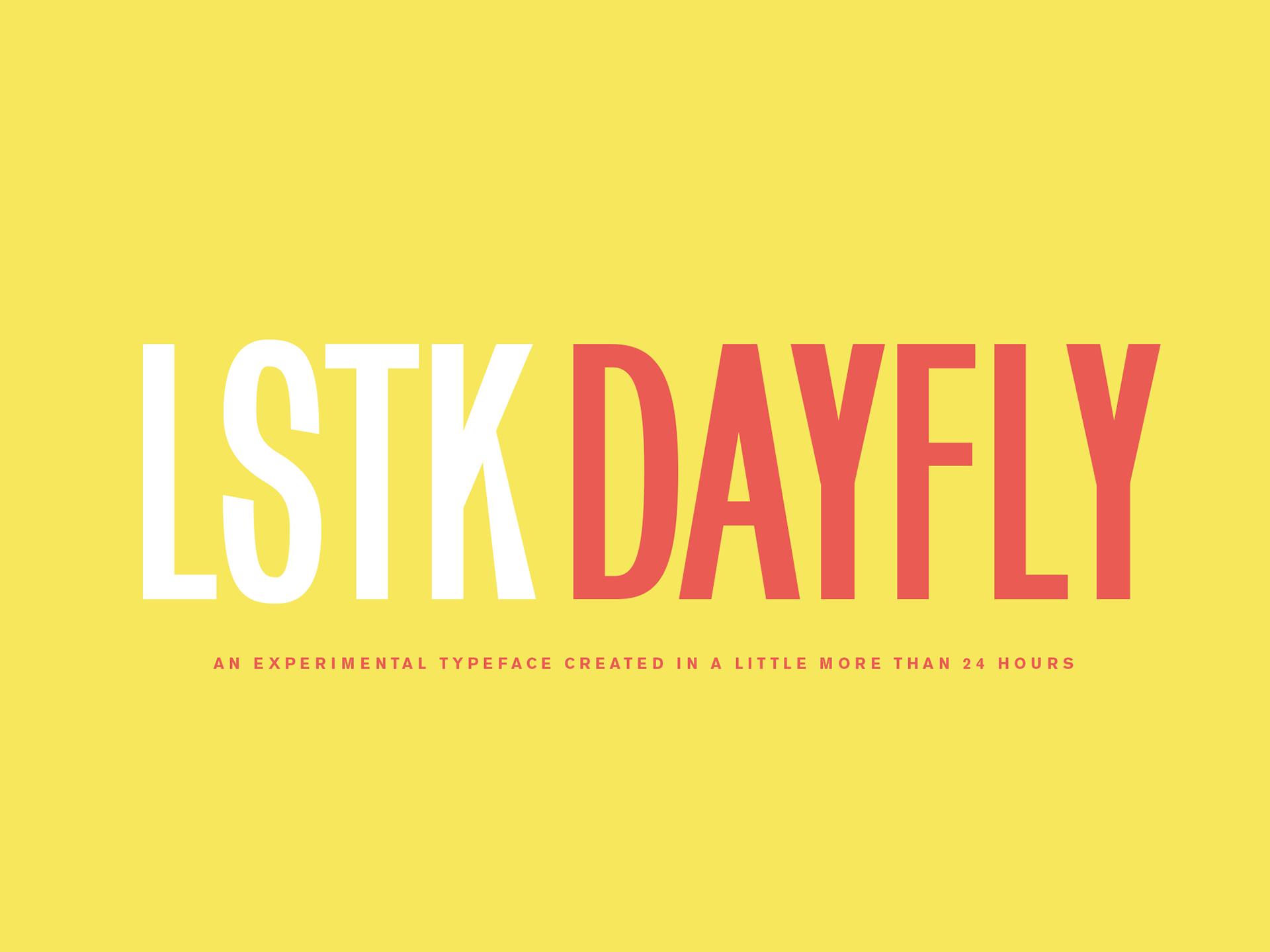 LSTK Dayfly Free Font - sans-serif