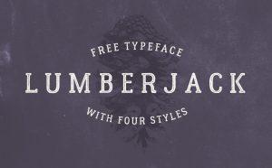 Lumberjack Free Font - serif