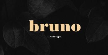 MADE Bruno Free Font - serif
