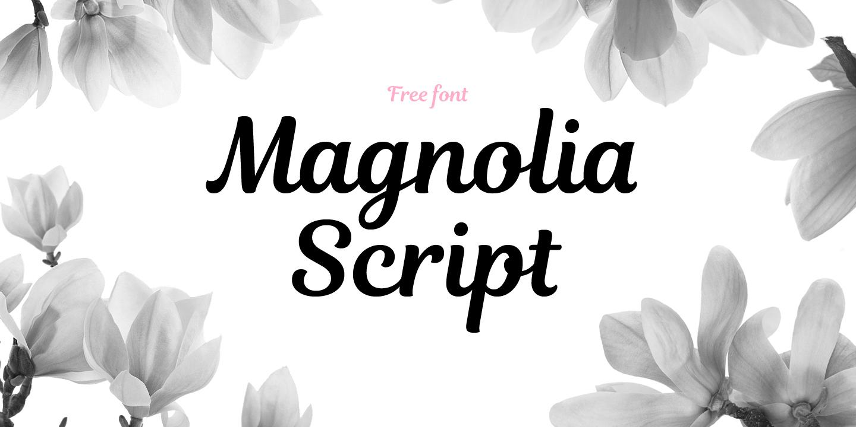 Magnolia Script Free Font - script