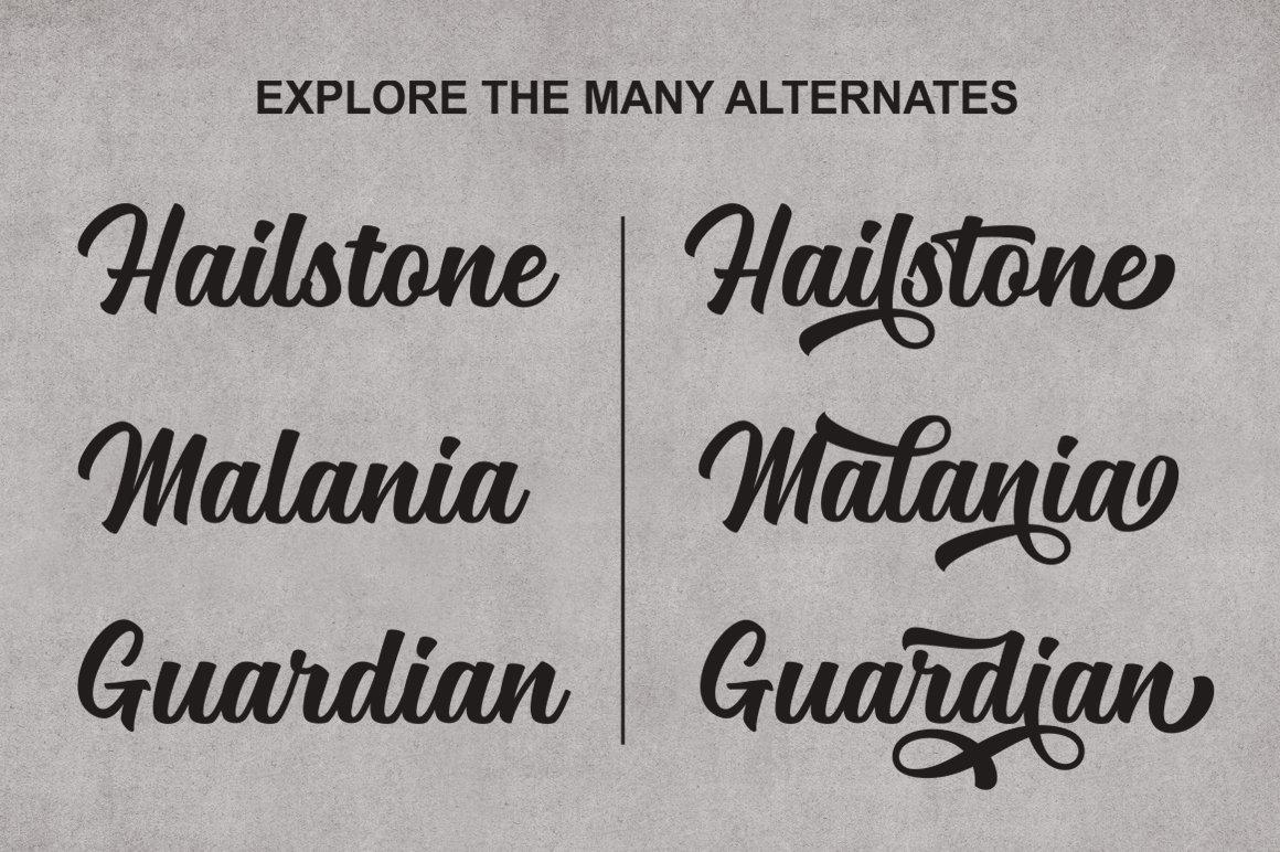 Mailston Free Font - script