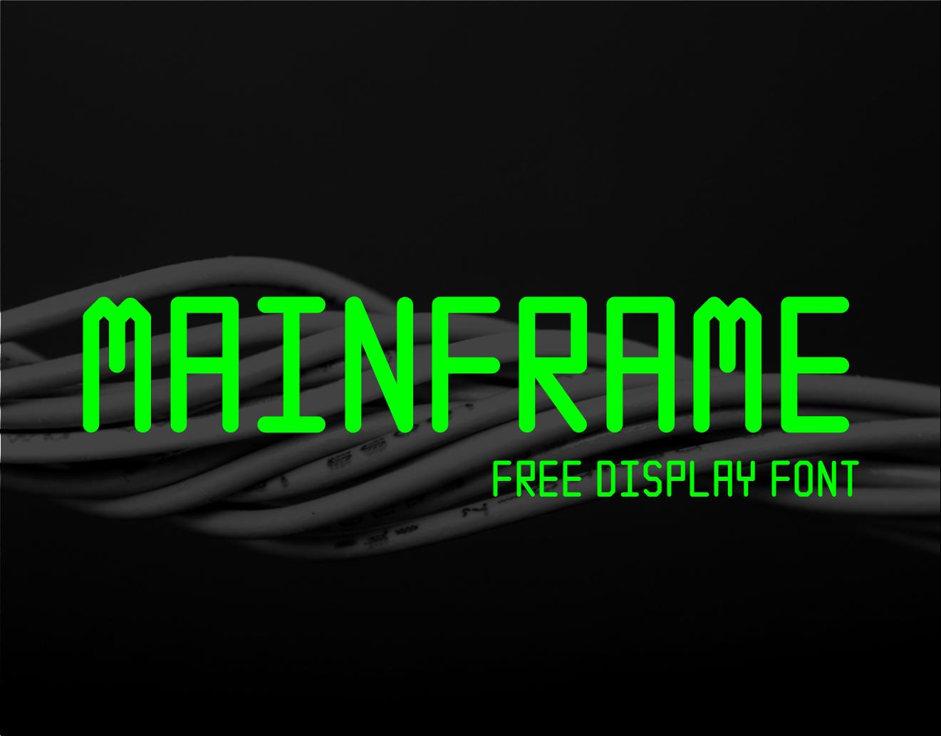 Mainframe Free Font - sans-serif