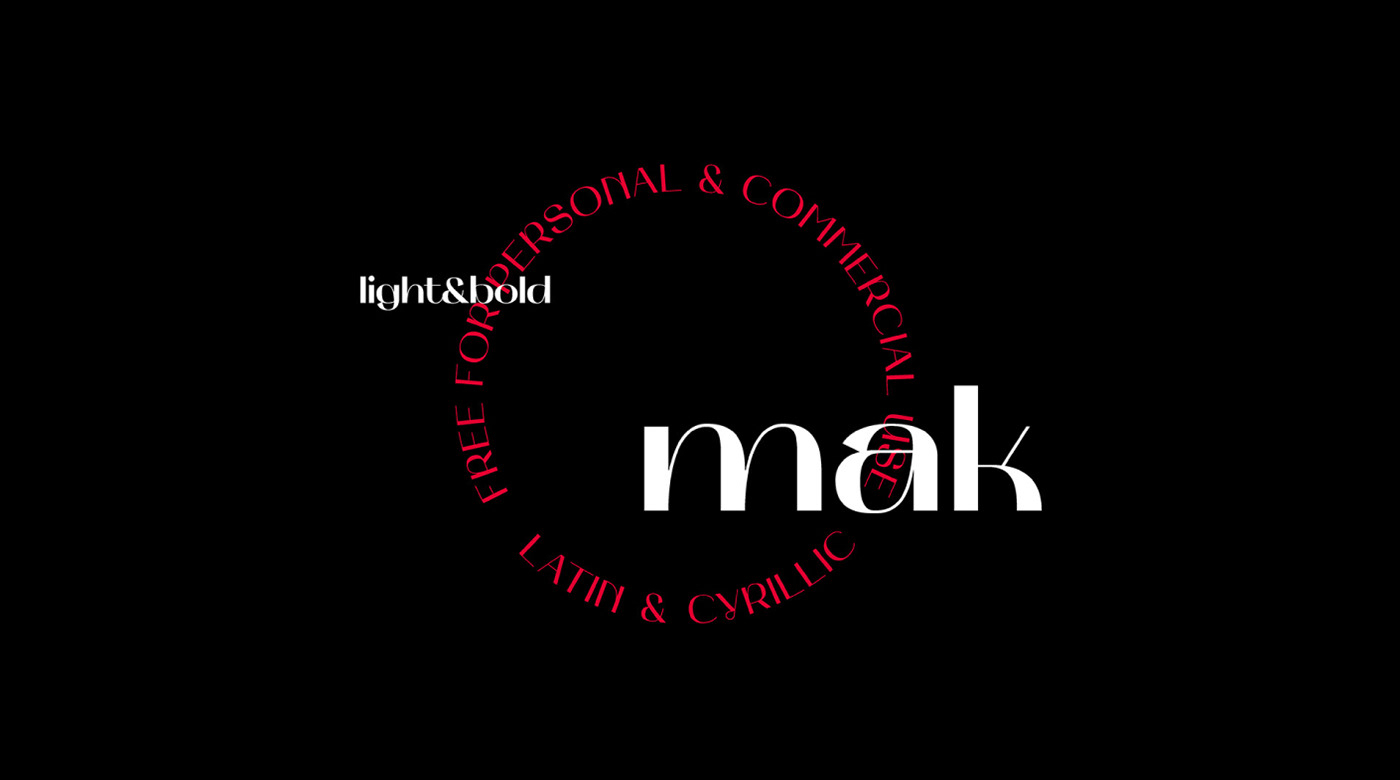 MAK Free Font - decorative-display, cyrillic