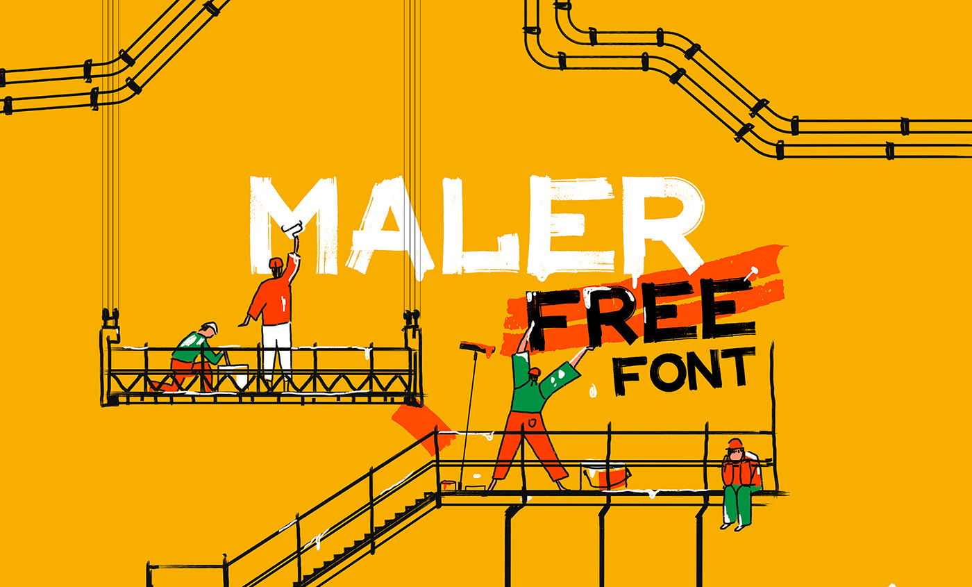 MALER Free Font - decorative-display, cyrillic