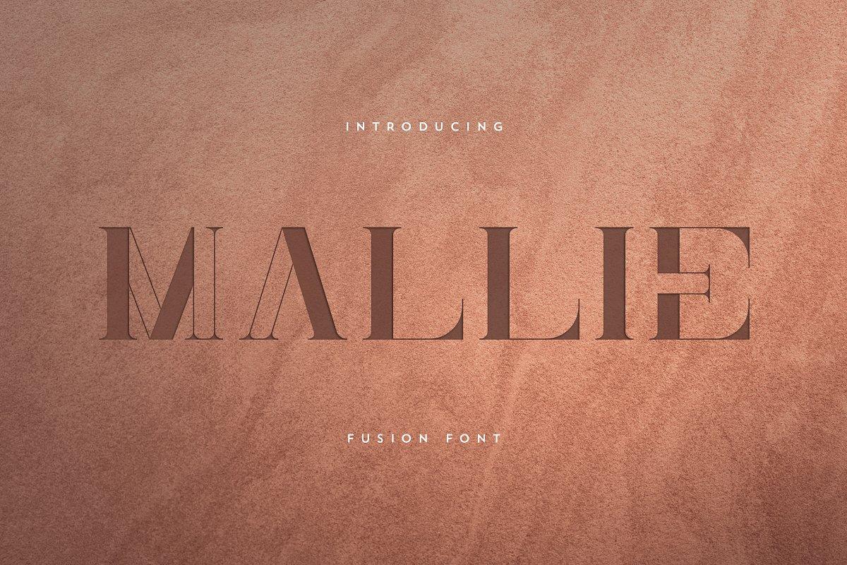 Mallie Free Font - decorative-display