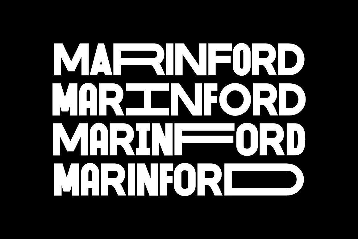 MARINFORD Free Font - decorative-display