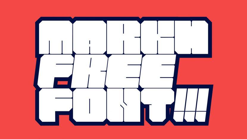 MARKH Free Font - decorative