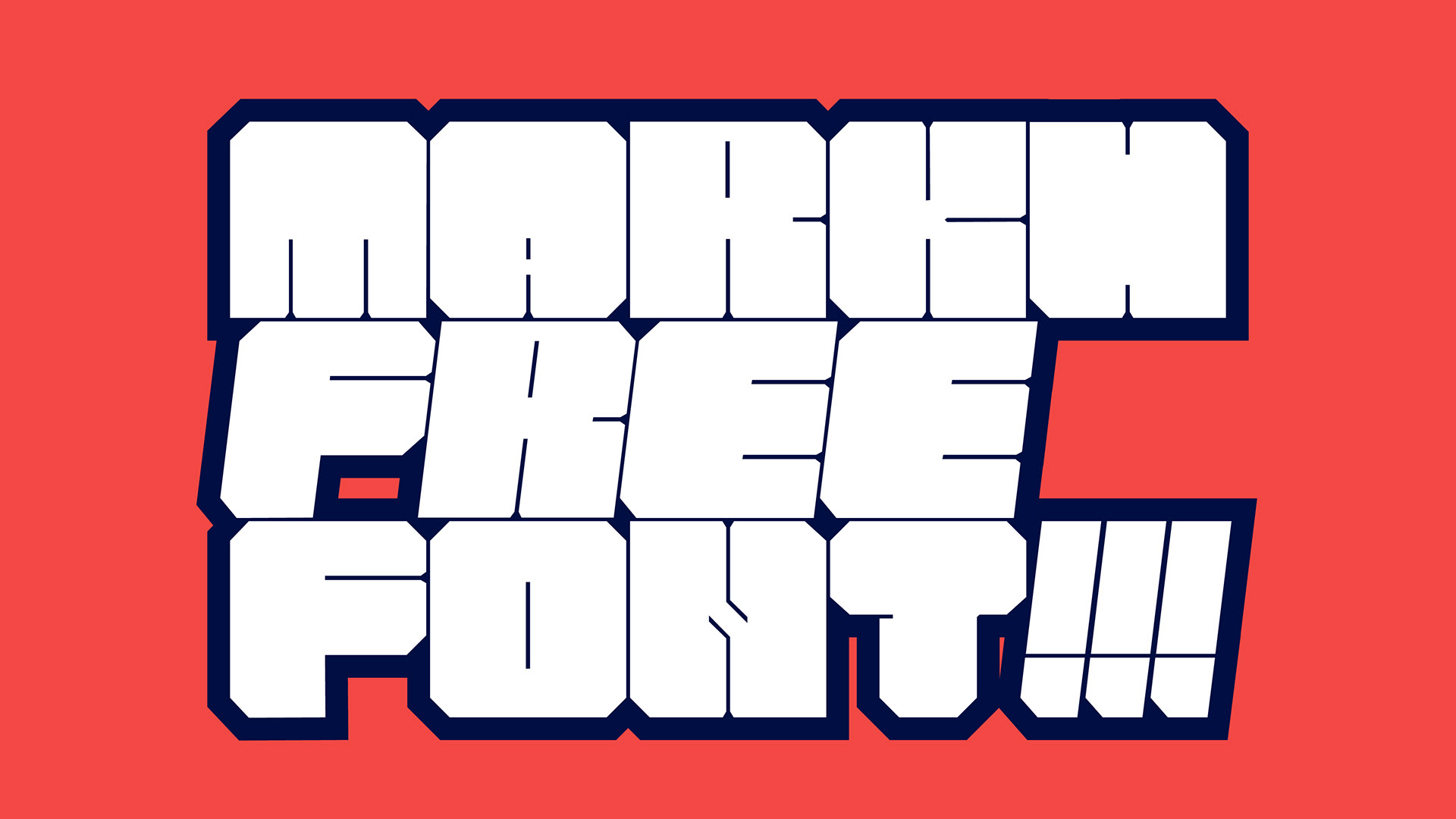 MARKH Free Font - decorative-display