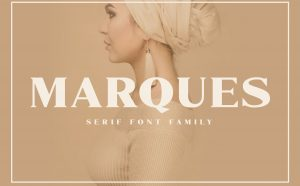 Marques Free Serif Font Family - serif
