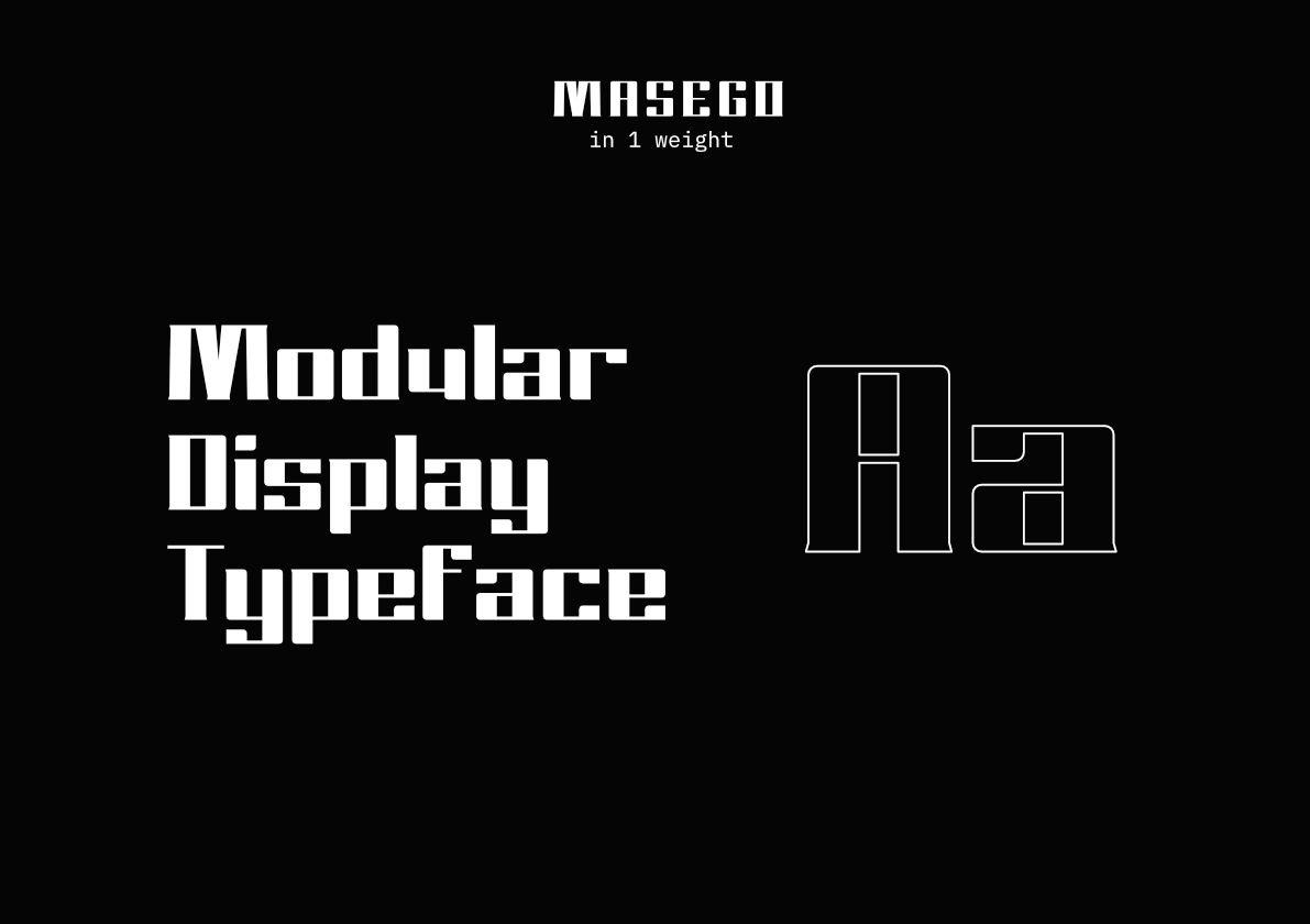 Masego Free Font - decorative-display