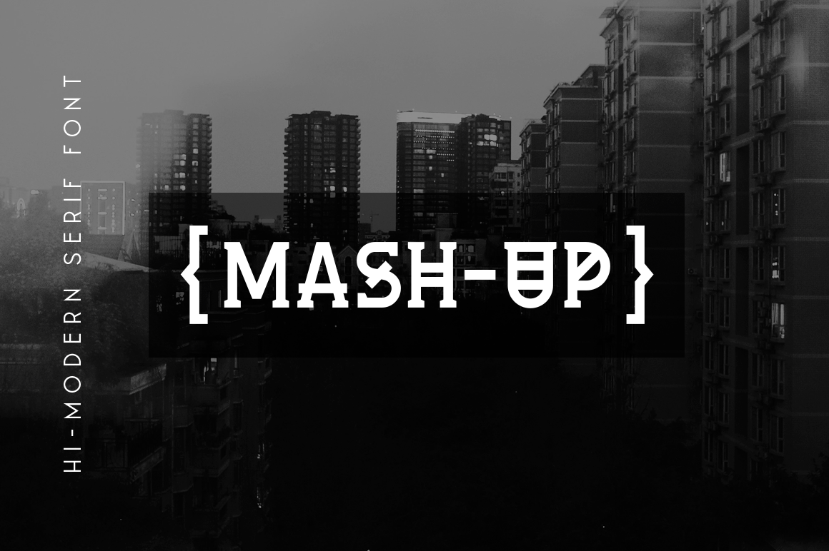 Mash-Up Free Font - decorative-display