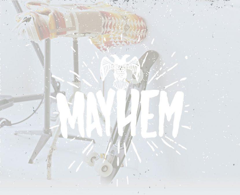 MAYHEM Free Hand Drawn Font - script