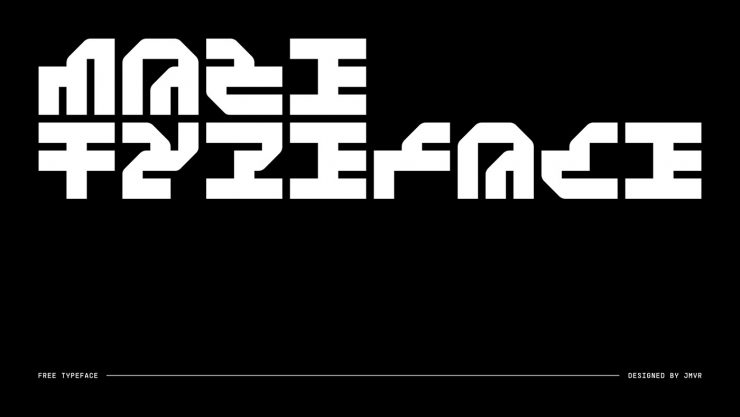 Maze Free Typeface - decorative-display