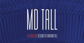 MD TALL Free condensed Font - sans-serif